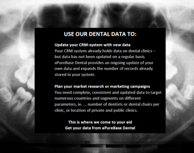 Targeting the dental market? We've got the data you need!